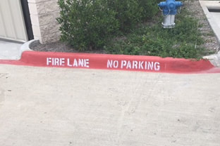 Fire Lane Striping and Curb Painting Grand Prairie