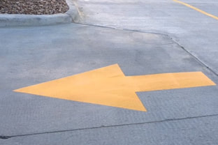 Directional Arrows In Your Parking Lot Grand Prairie Texas